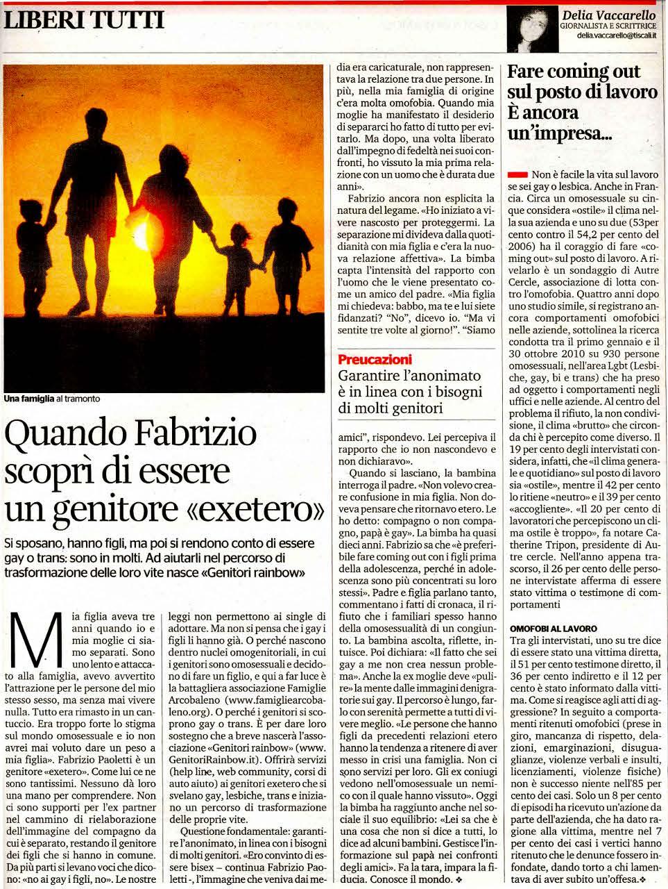 """Quando Fabrizio Scopri di essere un genitore """"exetero"""""""