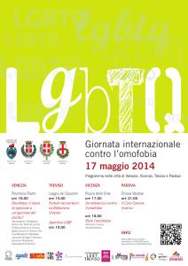 Giornata internazionale contro l'omofobia. 17 maggio 2014.