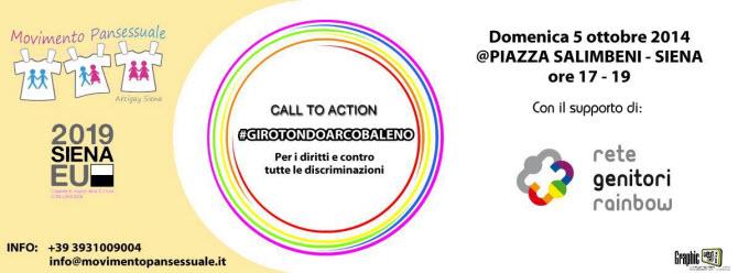 Siena: RGR aderisce al GIROTONDO ARCOBALENO