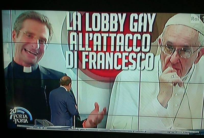 RAI/Porta a Porta: Vespa si inventa la lobby gay contro il papa. Basta offese!