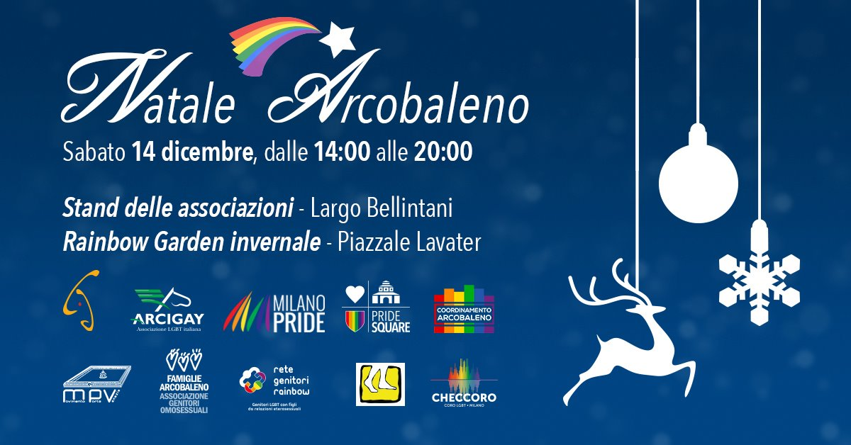 Natale arcobaleno a Milano!