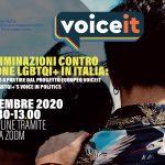 WEBINAR: LE DISCRIMINAZIONI CONTRO LE PERSONE LGBTQI+ IN ITALIA